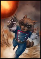 Rocket Raccoon By Flowcoma Colored by Absalom7