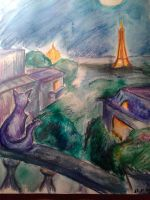 How a cat see Paris by Bast-Fury