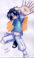 sasuke aquarela by Liz-kun