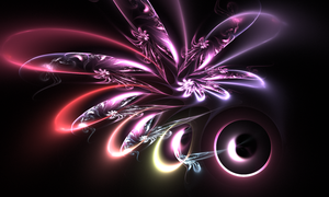 Faerie Flower - Fractal Art by CMWVisualArts