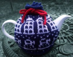 Tardis tea cosie by eddiebacon