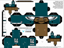 Jason Peters Eagles Cubee by etchings13