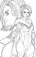 IllustriousBits Week 18 - PowerGirl by JamieFayX