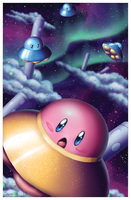UFO Kirby in Space by SunnieF