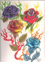 Stylized Roses by SuckeyMeMiracle