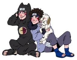 {COMM} ninjas and a puppy by kaijuparty