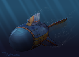 [UNI] Steampunk Submarine by Jenny2-point-0