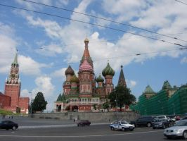 St. Basil's and Kremlin by rlkitterman