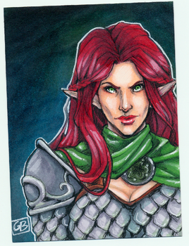 Elf sketchcard by DangerWench