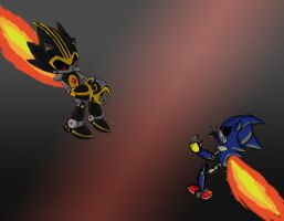 Shard vs Metal Sonic by GameKitty