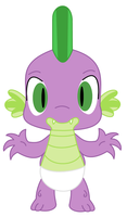 My Little Pony: Spike the Dragon diapered by dev-catscratch