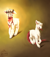 Two Lambs by riceXyummy