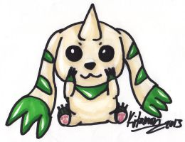 Art request #5 Terriermon by Kitamon