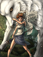 Princess Mononoke by SparkOut1911