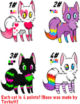 Kitty Adopts Batch 1# by DesuPanda-Adopts