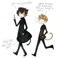 Cat!Johnlock by Iceicles