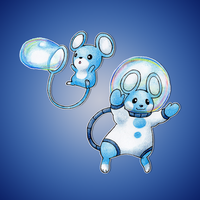 Bubble Mouse Fakemon by FakeMakeT