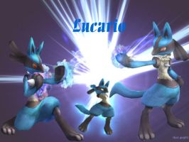 Lucario Wallpaper by that-guy911