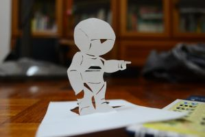 Marvin Papercutting by Exoen144