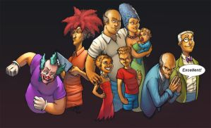 The REAL Simpsons by deffectx