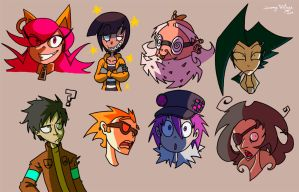 Some characters by FalloutCat