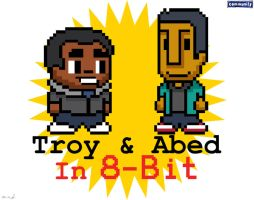 Troy and Abed in 8bit by LavnebDesigns