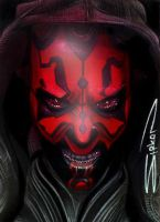 Darth Maul Sketch Card 3 by RandySiplon