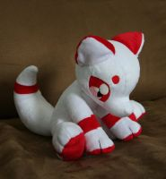 Sitting Fox Plushie by Yukamina-Plushies