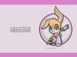 Sonic Channel Bunnie Wallpaper by E-122-Psi