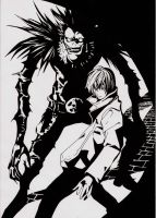 Light and  Ryuk - request - by alienmaskedcreature