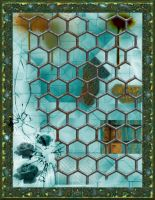Industrial Collage with Pressed Flowers by Urceola