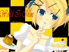 Rin Kagamine World is Mine by mikanxsakura