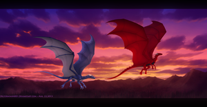 Evening Flight by Enigmatic-Ki