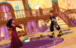 Sora Angry At Mother Gothel For Hurt Flynn rider by kari5