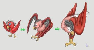 Fakemon: Loud Eagle Pokemon by werepenguin