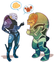Krogan Sushi by regeener