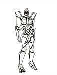 OC SamuraiCon Salvo sketch by Lady-Autobot17
