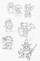 LoL Yordles Doodles by xiaolee92