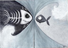 Yinyang Fish by BittaSweetCandy