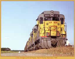 Crew Change at North Platte by classictrains
