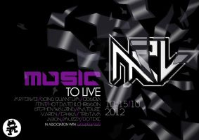 Music to Live Poster by Zeezal