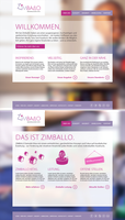 Zimballo Kindergarten Website layout 02 by SebastianKlammer