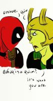 Deadpool and Loki by thedeathberry911