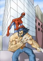 Wolverine and Spiderman TEAM UP by Sabrerine911