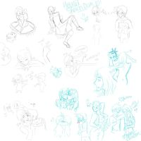 Hetalia Sketch Dump by CelloManLove