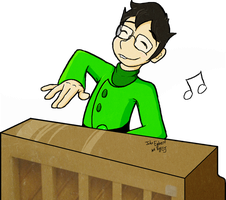 John Egbert at Piano by SnapdragonSoda