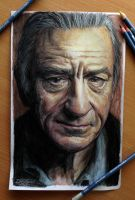 Robert De Niro color pencil drawing by AtomiccircuS