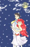 Ariel and her prince...lol by Ran-chan611