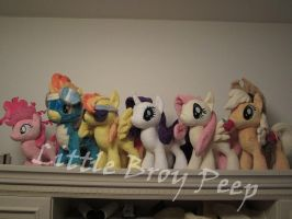 my little pony plushies by Little-Broy-Peep