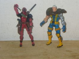 cable and deadpool by wotan03